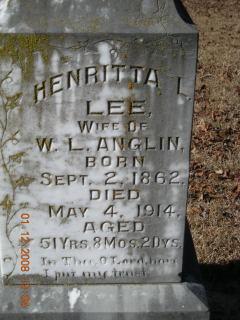 Henrietta L. <i>Lee</i> Anglin