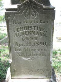 Christine <i>Prinz</i> Ackermann