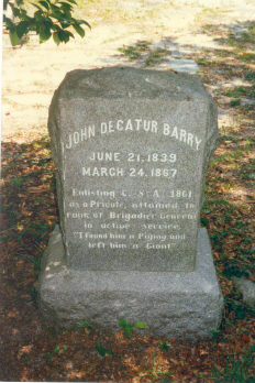 Gen John Decatur Barry