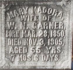 Mary Madora Dora <i>Minor</i> Garner