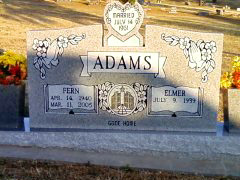 Gracie Fern <i>Howell</i> Adams