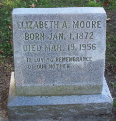 Elizabeth A <i>Atkins</i> Moore