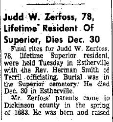 Judson William Judd Zerfoss