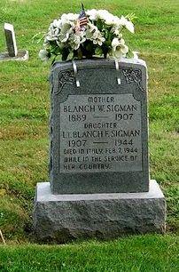 Lieut Blanche Faye Sigman