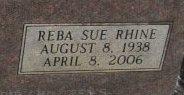 Reba Sue <i>Rhine</i> Carwile
