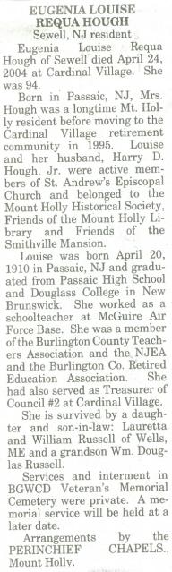 Eugenia Louise <i>Requa</i> Hough