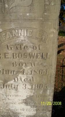 Fannie E. Boswell