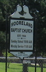 Mooreland Baptist Church Cemetery