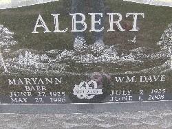 Mary Ann <i>Baer</i> Albert