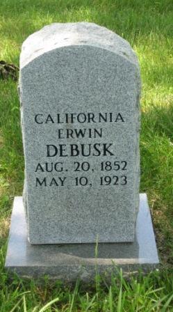 California F Callie <i>Erwin</i> Debusk