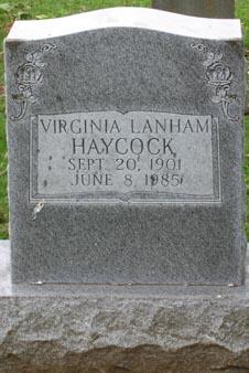I Virginia <i>Lanham</i> Haycock
