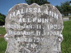 Malissa Ann <i>Pritchard</i> Allphin