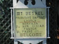 Mount Bethel Primitive Baptist Church Cemetery