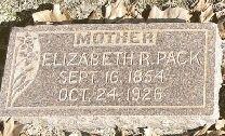 Elizabeth <i>Roberts</i> Pack