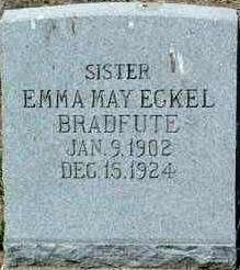 Emma M <i>Eckel</i> Bradfute