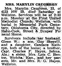 Marylin <i>Hayes</i> Caughron