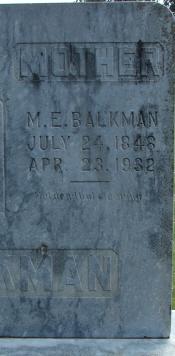 Martha Elizabeth <i>Cosper</i> Balkman