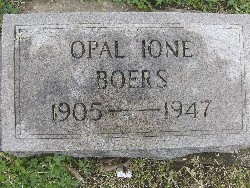 Opal Ione <i>Schooling</i> Boers