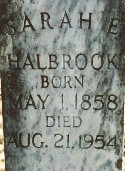 Sarah Elizabeth <i>Wolverton</i> Halbrook