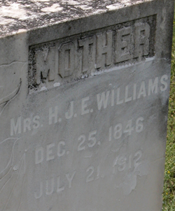 Martha A <i>Roper</i> Williams