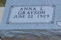 Anna Lou <i>Grayson</i> Adams