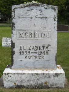 Elizabeth Lizzie <i>Canfield</i> McBride