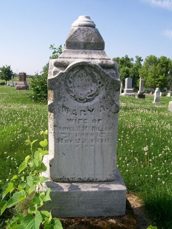 Mary Ann Hufford McMillan tombstone