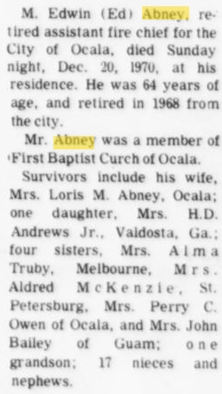 Moses Edwin Ed Abney