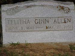 Telitha <i>Ginn</i> Allen