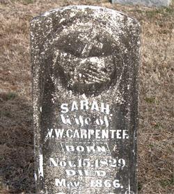 Sarah Jane <i>Mattox</i> Carpenter