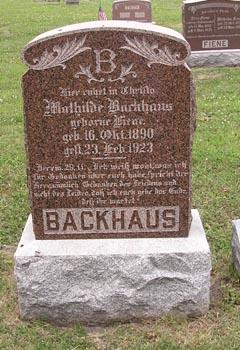 Mathilde <i>Fiene</i> Backhaus