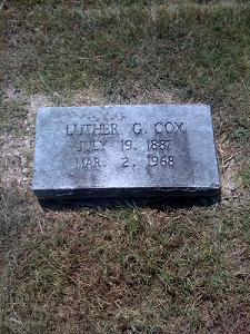 Luther G Cox