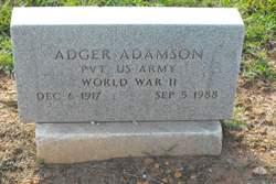 Pvt Adger Adamson