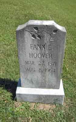 Fannie <i>McDaniel</i> Hoover