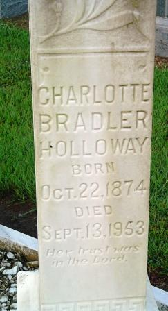 Charlotte <i>Bradler</i> Holloway