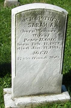 Sarah A <i>Wesner</i> Gift