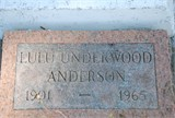 Lula Mae <i>Underwood</i> Anderson
