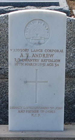 Lce. Cpl. A. T. Andrew