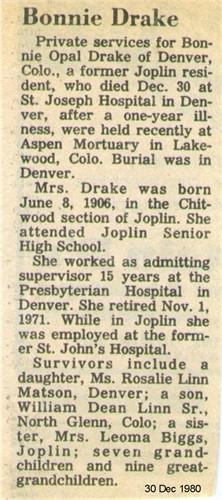 Bonnie Opal <i>Hembree</i> Drake