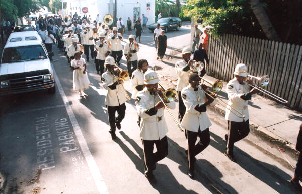 Bishop Kee's funeral procession