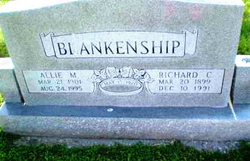 Allie May <i>Wallace</i> Blankenship