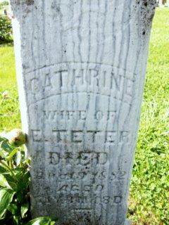 Catharine <i>Keller</i> Teter