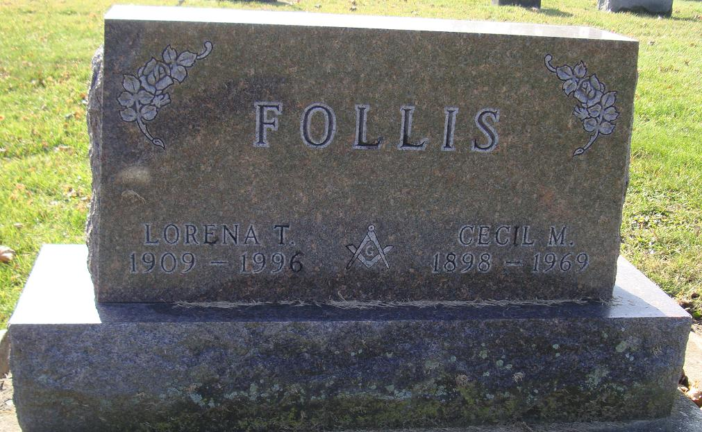 Cecil Follis tombstone Find-A-Grave