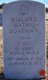 Willard Mathis Boatman