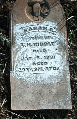 Sarah Elizabeth <i>Gregory</i> Riddle