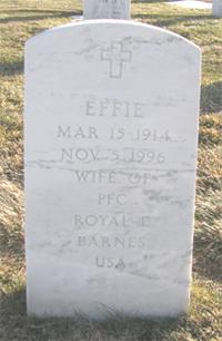 Effie <i>Jones</i> Barnes