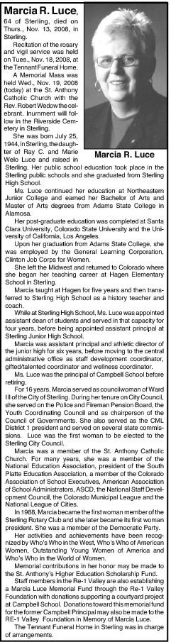 Marcia R Luce