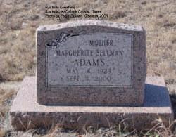 Marquerite <i>Sellman</i> Adams