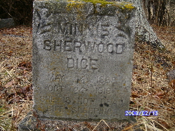 Minnie <i>Sherwood</i> Dice