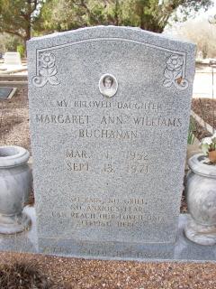 Margaret Ann <i>Williams</i> Buchanan